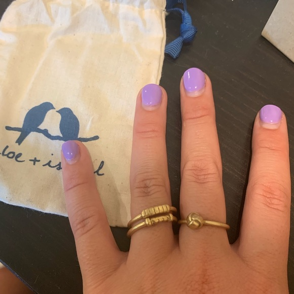 Chloe + Isabel Jewelry - BRAND NEW set of 3 Chloe & Isabella Rings size 8